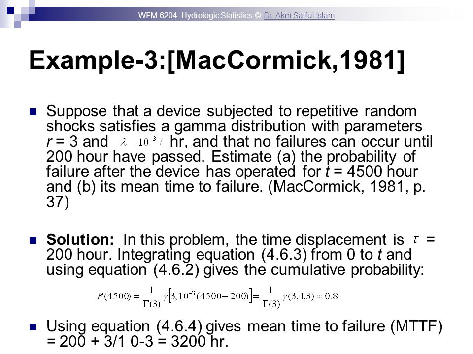 Example-3:[MacCormick,1981]